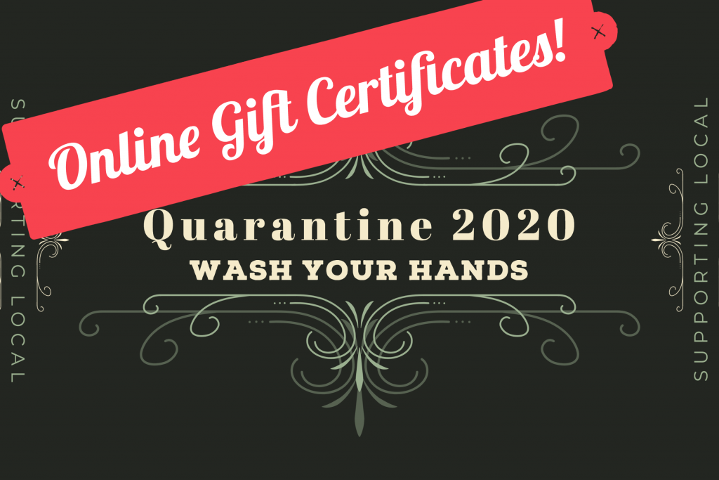 Online Gift Certificates Available